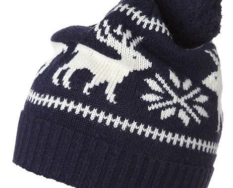 bonnet à pompon gant