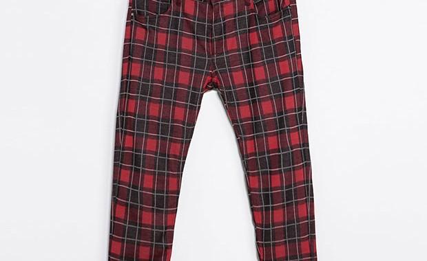 pantalon tartan zara
