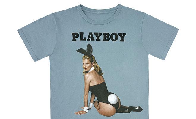 t-shirt kate moss anniversaire playboy 60ans