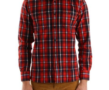 chemise a carreaux maison kitsuné