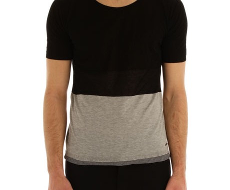 tshirt noir et gris costume national