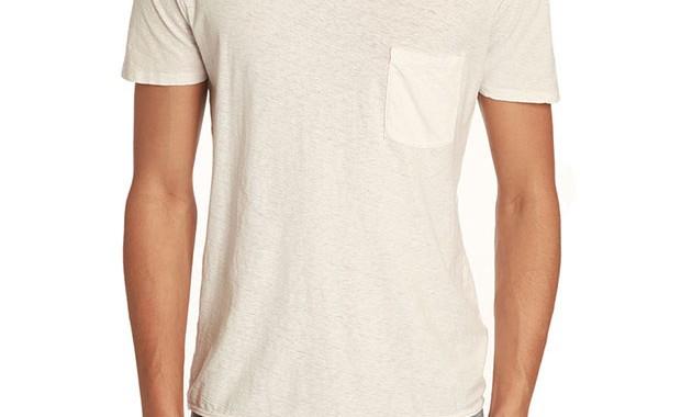 t-shirt à poche basique american vintage