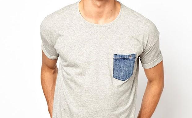 t-shirt poche jean diesel