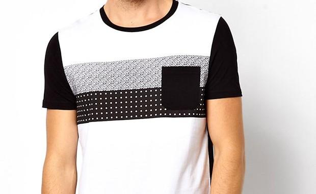t-shirt poche motif homme asos