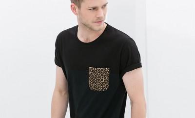 t-shirt poche poitrine zara homme