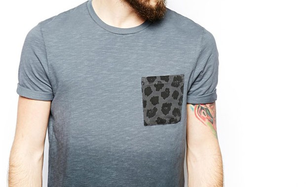 t-shirt poche camo the laundry folk