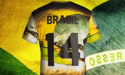 t-shirt coupe du monde bresil elevenparis