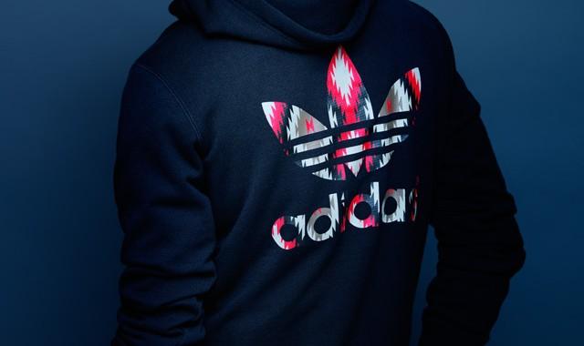 hoodie motif ikat Adidas Originals NEIGHBORHOOD