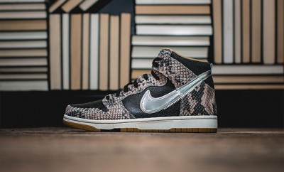 basket Nike Dunk cuir serpent