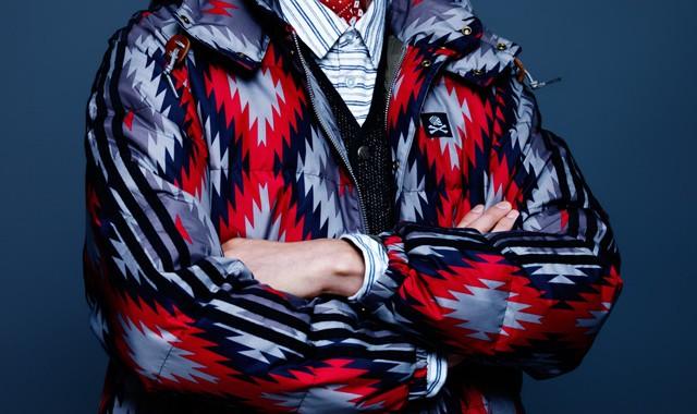 Veste motif ikat pour homme Adidas Originals NEIGHBORHOOD