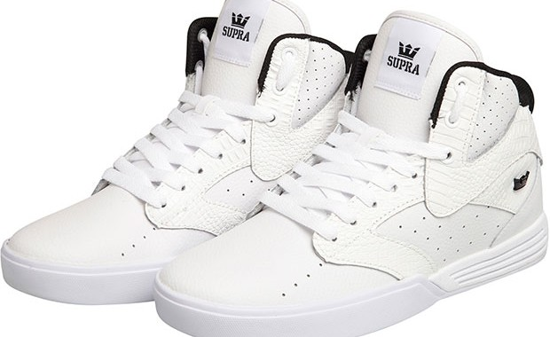 baskets khan blanches Supra