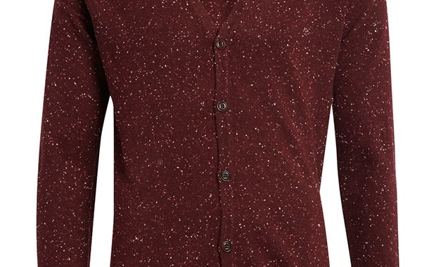 Cardigan neps yarn bordeaux Scotch & Soda