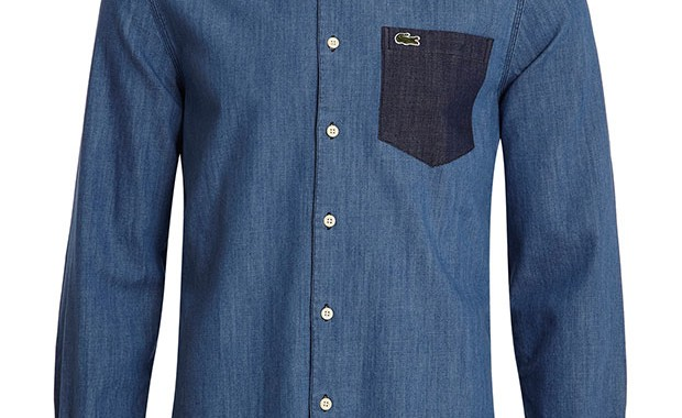 chemise two tone Lacoste L!VE