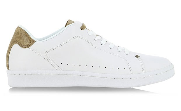 Baskets en cuir serpent Lacoste
