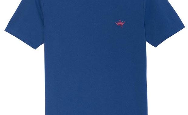 T-shirt bleu Vicomte A.