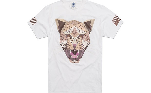 t-shirt Franklin & Marshall guepard