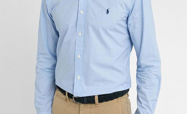 chemise popeline bleu Polo Ralph Lauren