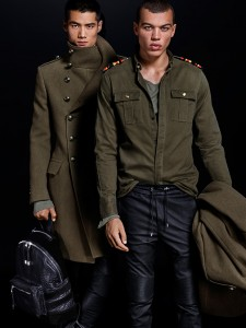 collection H&M Balmain militaire