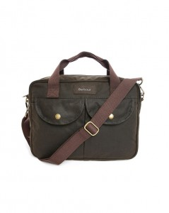 sac briefcase en toile waxée Barbour