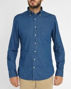 chemise bleue Gant