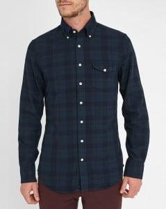 chemise à carreaux bleus Gant