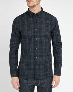 chemise à carreaux verts et noirs Selected