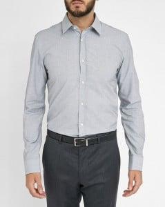 chemise en popeline grise Hugo Boss