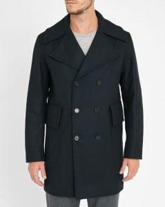 manteau bleu officier Sandro