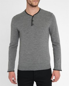 pull col tunisien gris The Kooples