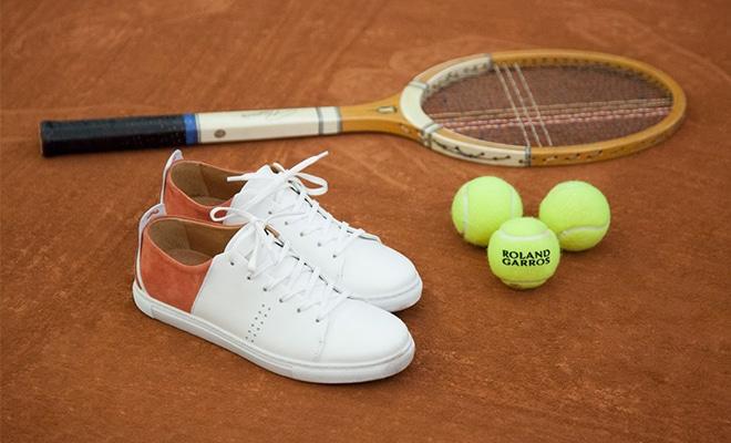 tennis en cuir M. Moustache