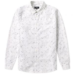 chemise blanche à motifs A.P.C.