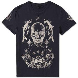 t-shirt tattoo noir Alexander McQueen