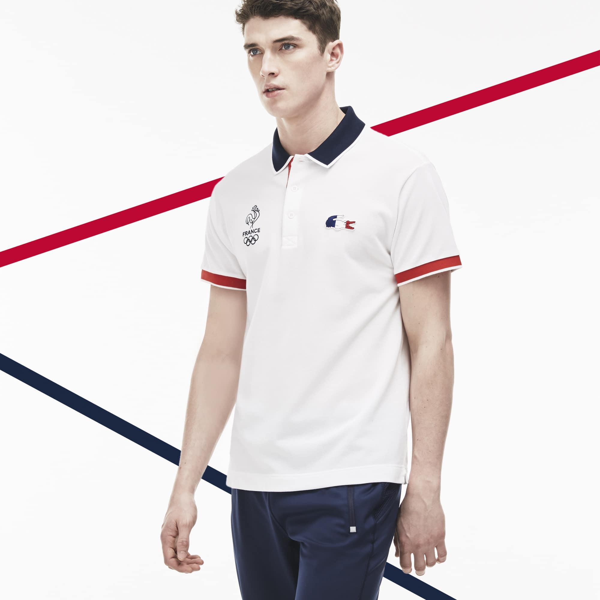 b44479378b La collection France Olympique est disponible exclusivement sur la boutique  en ligne et dans les magasins Lacoste.