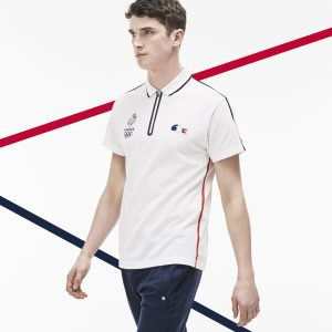 polo zippé Lacoste France Olympique
