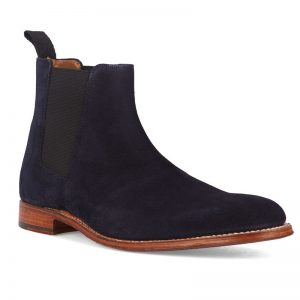chelsea boots Declan suède bleu Grenson