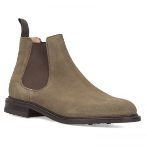 chelsea boots suède taupe Church's