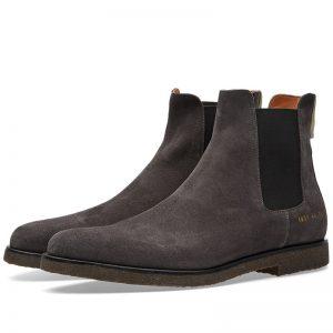 chelsea boots suède gris Common Projets