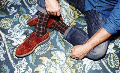 chaussettes à carreaux greg Royalties