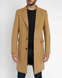 manteau en laine camel Sandro