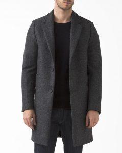 manteau en laine gris chiné American Vintage