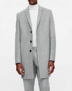 manteau en laine gris COS homme