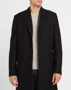 manteau en laine et cuir The Kooples