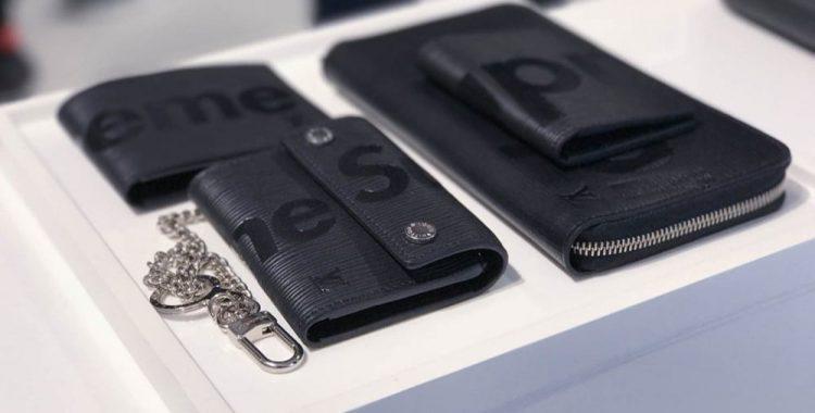 maroquinerie noire Supreme Louis Vuitton