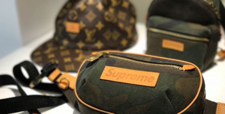 sac banane camo Supreme Louis Vuitton