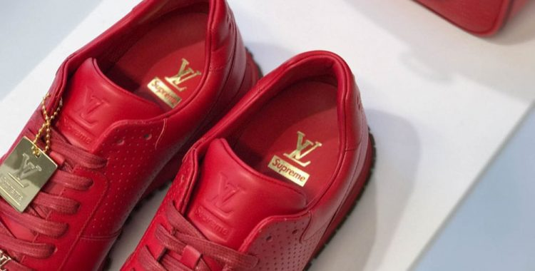 chaussures en cuir Supreme Louis Vuitton
