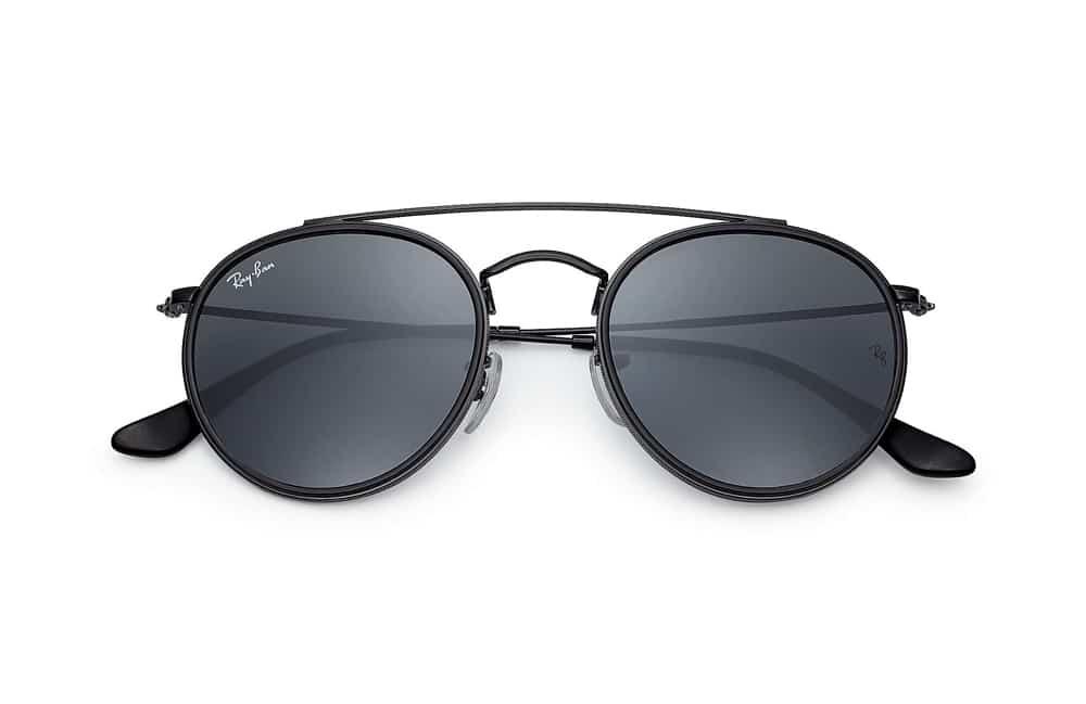 lunettes de soleil Ray-Ban Round double bridge noir