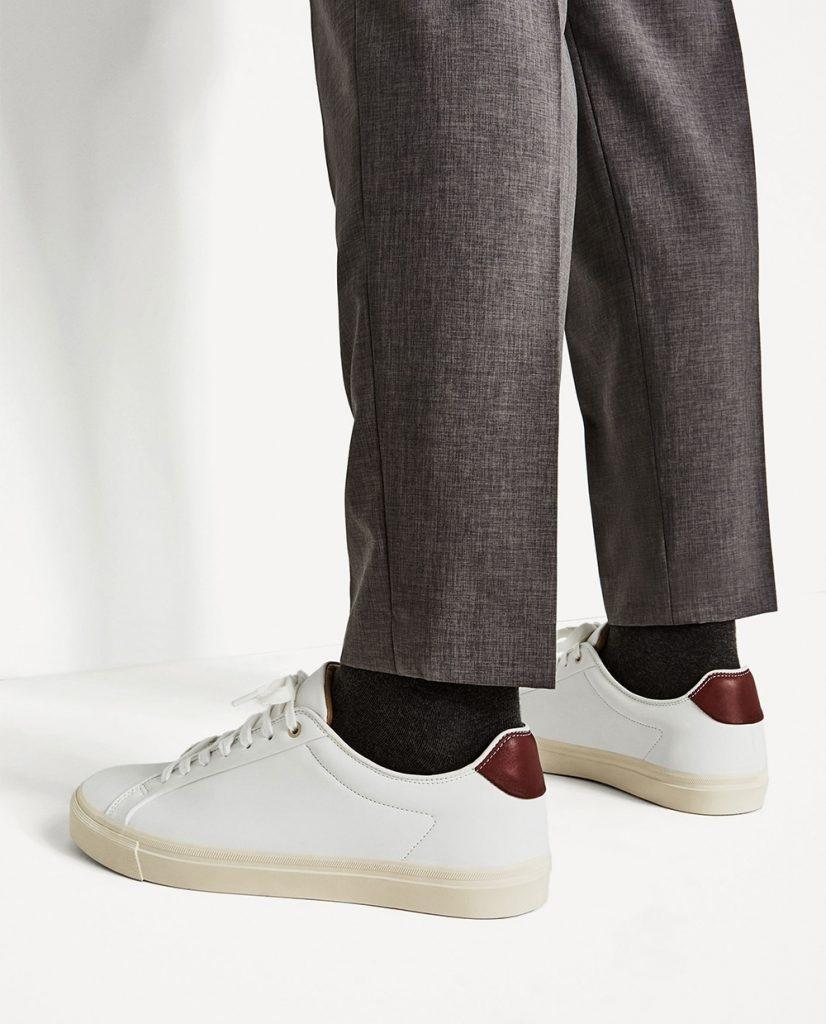 sneakers en cuir blanc